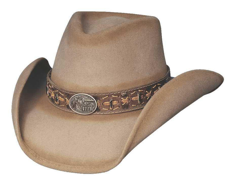 Bullhide Billy The Kid Premium Wool Cowboy Hat, Sand, hi-res