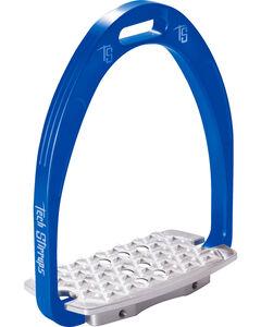 Tech Stirrups Blue Iris Cross Country Irons , Blue, hi-res