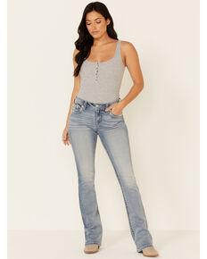 Miss Me Women's ZigZag Bootcut Jeans, Blue, hi-res