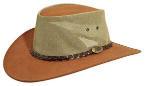 Jacaru Summer Breeze Outback Hat, Mushroom, hi-res