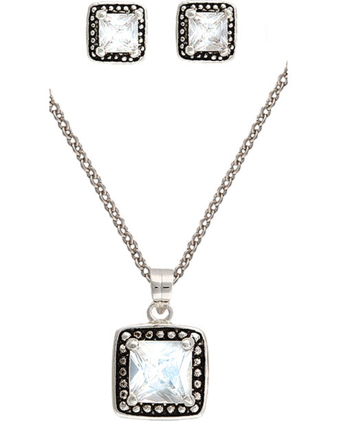 Montana Silversmiths Star Lights Western Princess Jewelry Set, Silver, hi-res