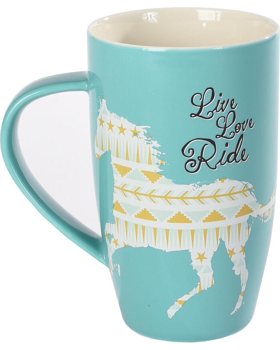 BB Ranch Tall Cowgirl Mug, Blue, hi-res