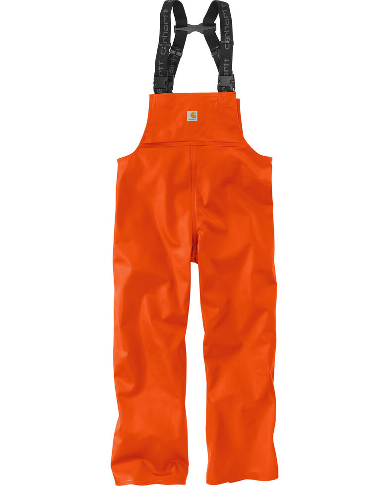 Carhartt Men's Orange Belfast Bib Overalls - Big & Tall, , hi-res