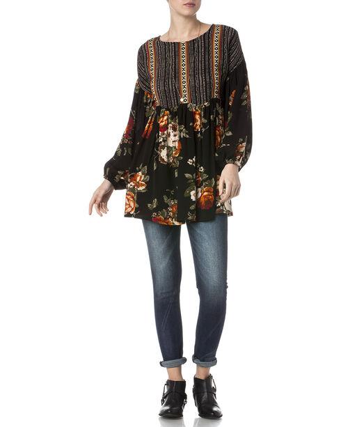 Miss Me Women's Sweet Floral Peasant Tunic , Multi, hi-res