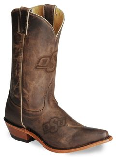 Nocona Women's Oklahoma State College Boots - Snip Toe, Tan, hi-res