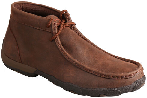 Twisted X Women's Brown Lace-Up Driving Mocs, Brown, hi-res