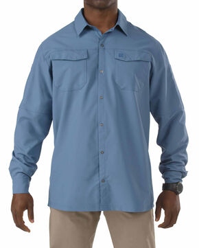 5.11 Tactical Freedom Flex Woven Long Sleeve Shirt, Blue, hi-res