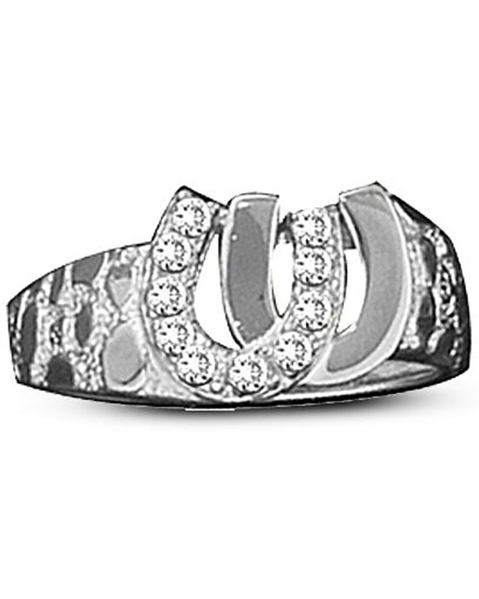 Kelly Herd Women's Silver Double Horseshoe Ring , Silver, hi-res