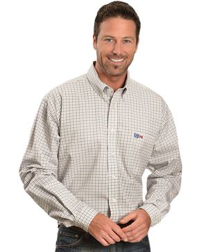 Cinch ® Flame Resistant Plaid Work Shirt, White, hi-res