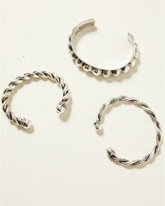 Idyllwind Women's Never Bending Spiraling Cuff Set, Silver, hi-res