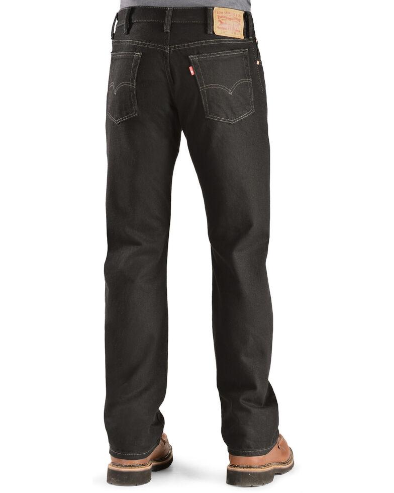 Levi's Men's 517 Prewashed Low Slim Bootcut Jeans , Black, hi-res