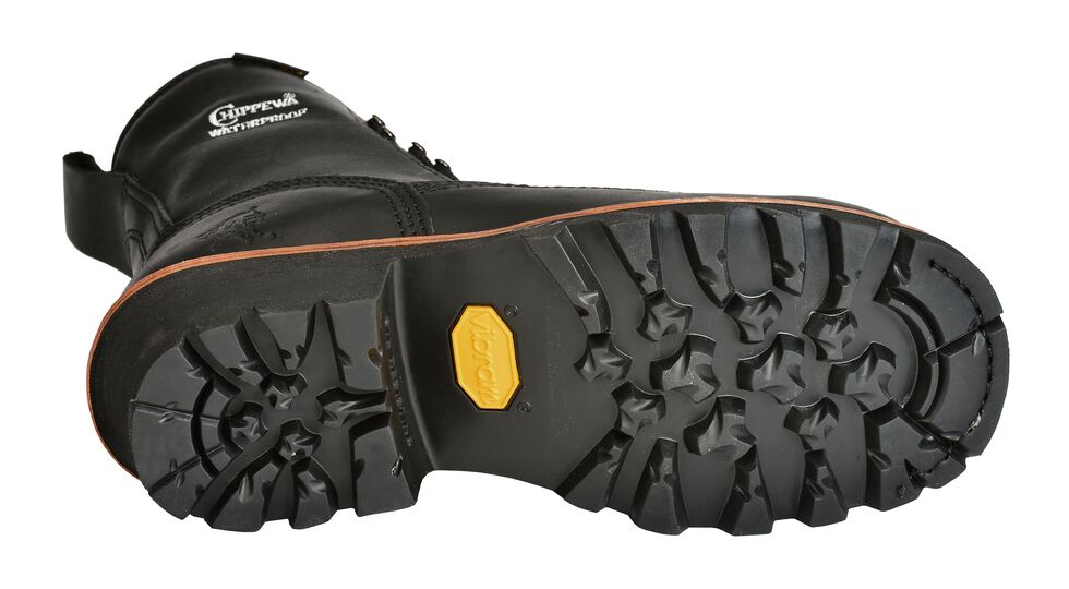"""Chippewa Oiled Waterproof & Insulated 8"""" Lace-Up Logger Boots - Comp Toe, Black, hi-res"""
