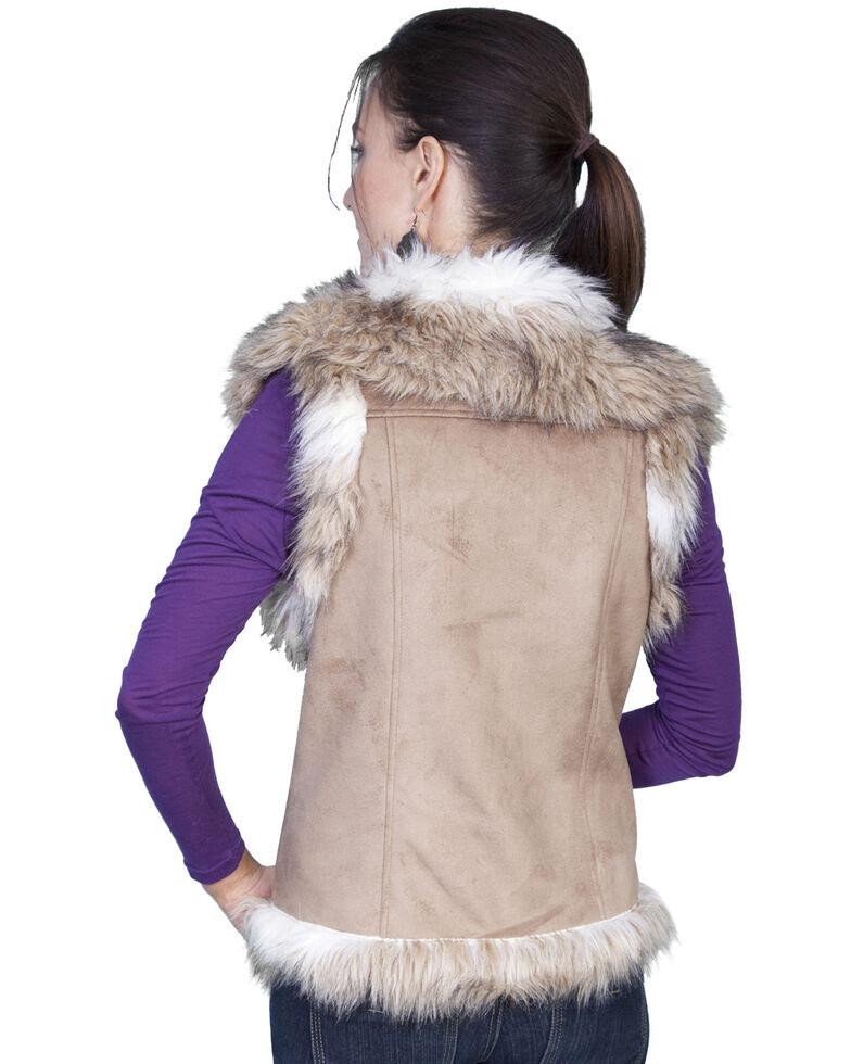Scully Faux Fur Shoulder & Trim Vest, Hazelnut, hi-res