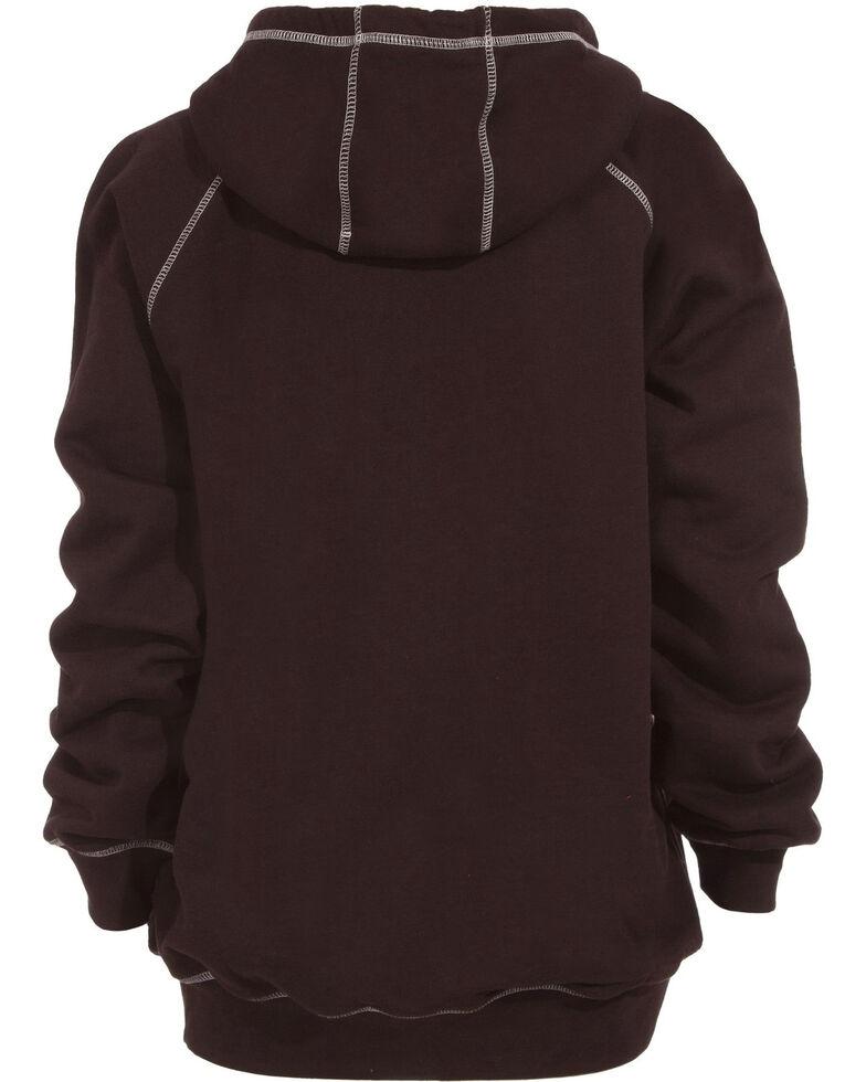 Berne Women's Zip-Front Hoodie, Dark Brown, hi-res