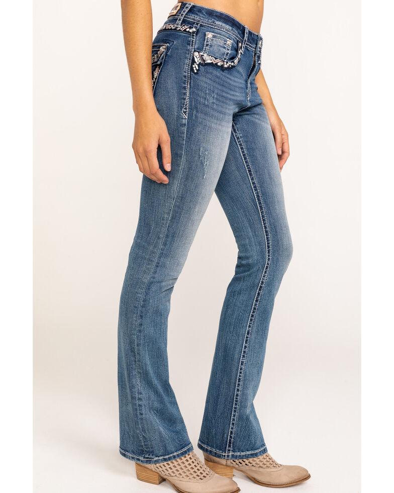 Grace in LA Women's Medium Embellished Bootcut Jeans, Blue, hi-res