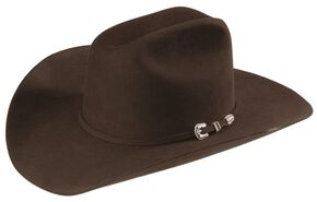 Stetson 6X Skyline Fur Felt Western Hat, Chocolate, hi-res