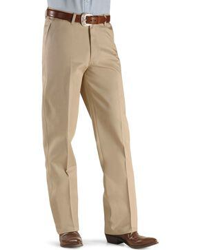 Wrangler Riata Flat Front Slacks, Khaki, hi-res