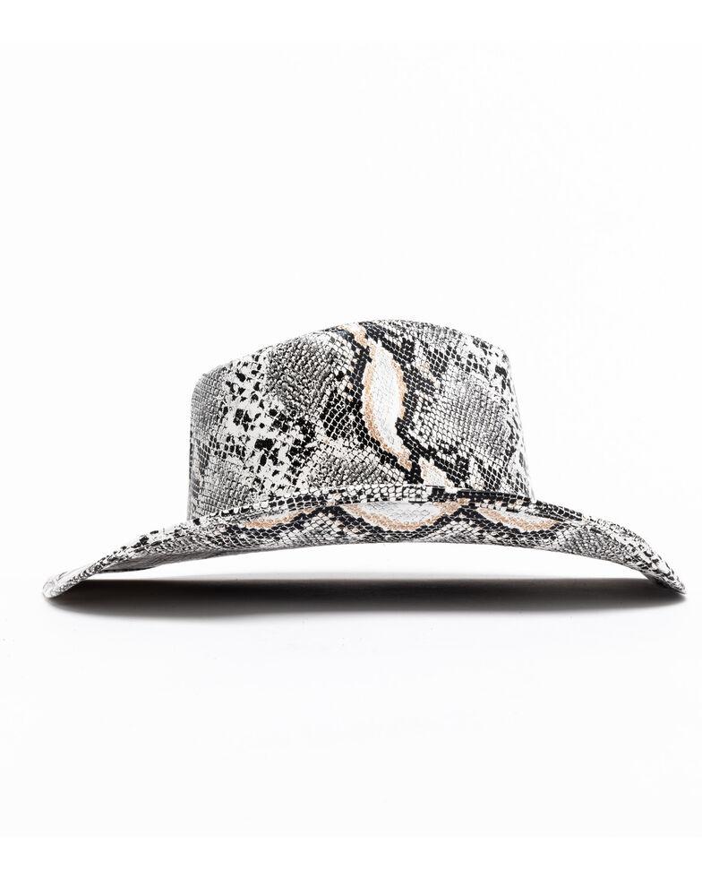 Shyanne Women's Cut & Sew Snake Skin Felt Hat , Multi, hi-res