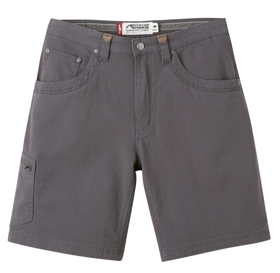 """Mountain Khakis Men's Classic Fit Camber 107 Shorts - 9"""" Inseam, Slate, hi-res"""