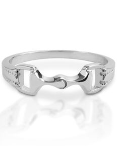 Kelly Herd Women's 6mm Bit Ring , Silver, hi-res