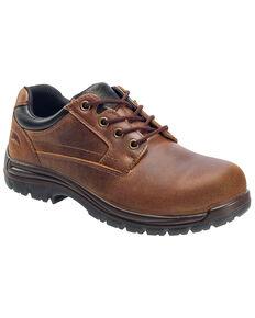 Avenger Men's Slip Resistant Oxford Work Shoes - Composite Toe, Brown, hi-res