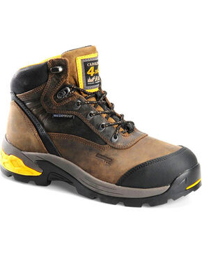 "Carolina Men's 5.5"" WP 4x4 Hiker Boots - Aluminum Toe , Black, hi-res"