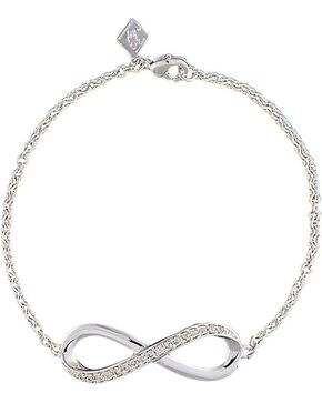 Montana Silversmiths Stars Shine Infinite Bracelet, Silver, hi-res