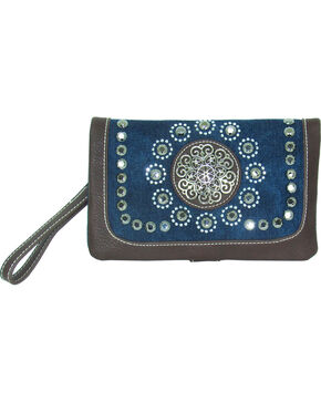 Savana Women's Blue Denim Crossbody , Blue, hi-res