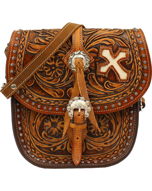 Blazin Roxx Women's Cora Saddle Bag, Brown, hi-res