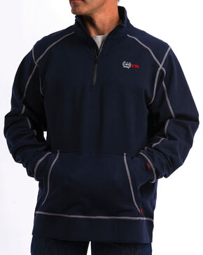 Cinch WRX Men's FR 1/4 Zip Work Pullover - 3X, Navy, hi-res