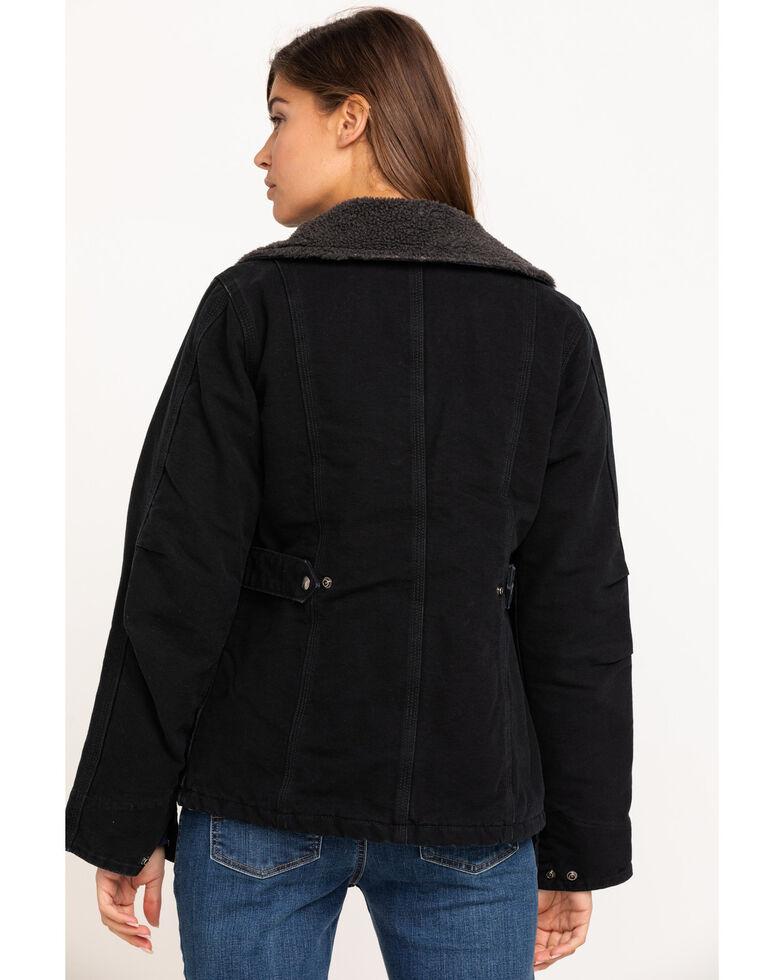 Carhartt Women's Weathered Duck Wesley Coat, Black, hi-res