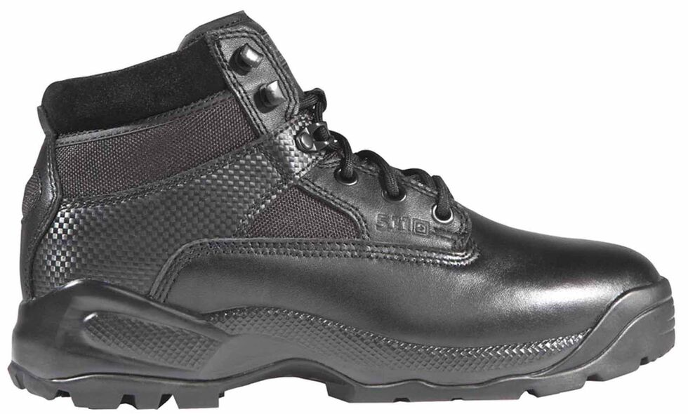 "5.11 Tactical Women's A.T.A.C. 6"" Side Zip Boots - Round Toe, Black, hi-res"