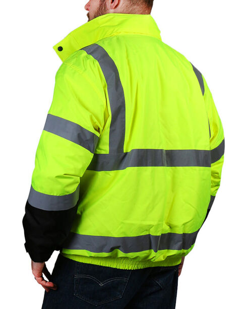 American Worker Men's Bomber Jacket , Bright Yellow, hi-res
