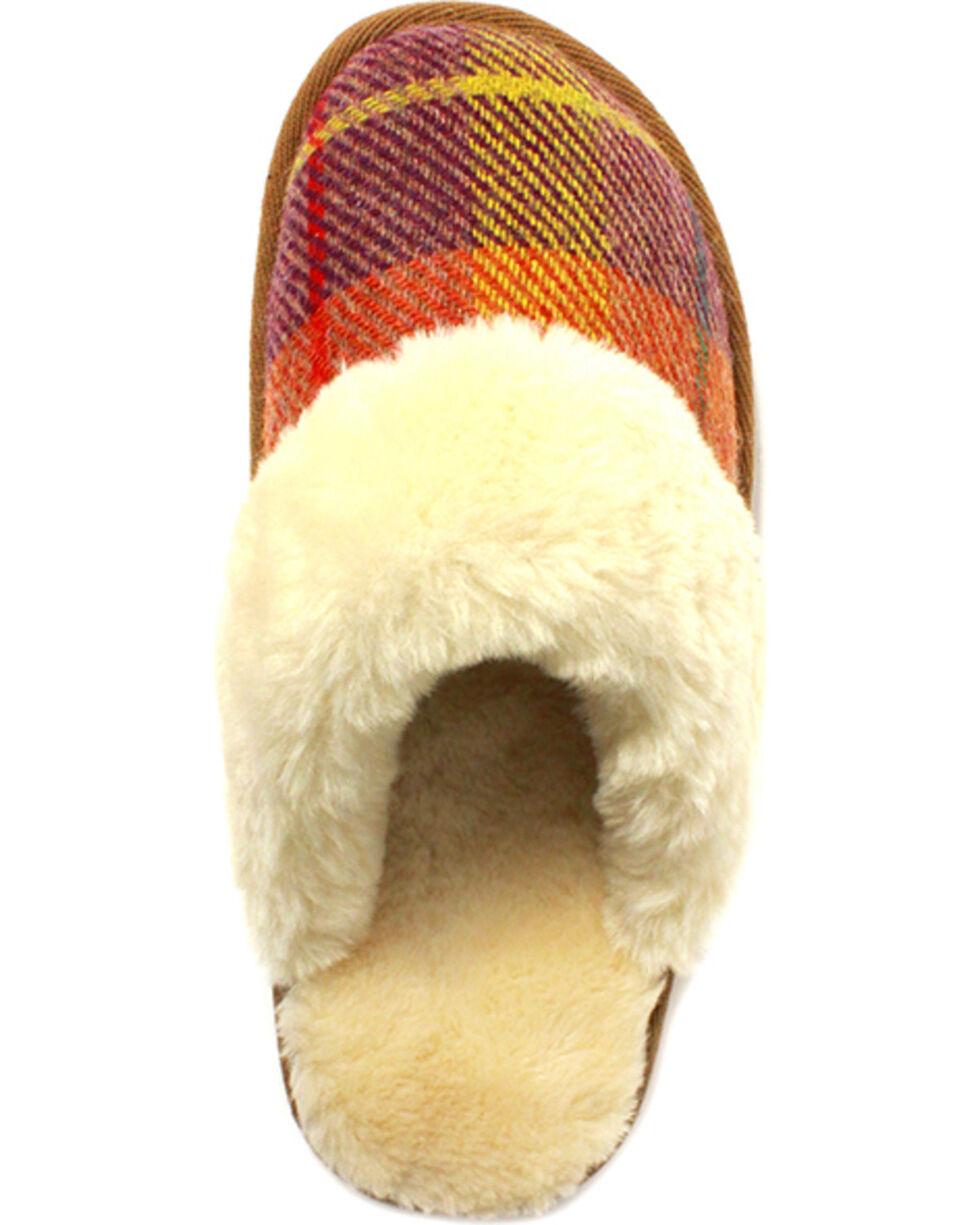 Lamo Footwear Women's Wembley Scuff Slippers , Tan, hi-res