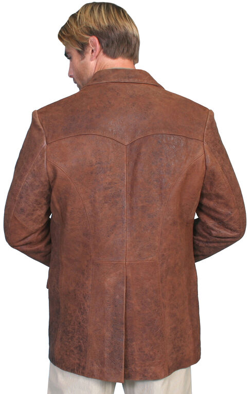 Scully Lamb Leather Blazer, Antique Brown, hi-res