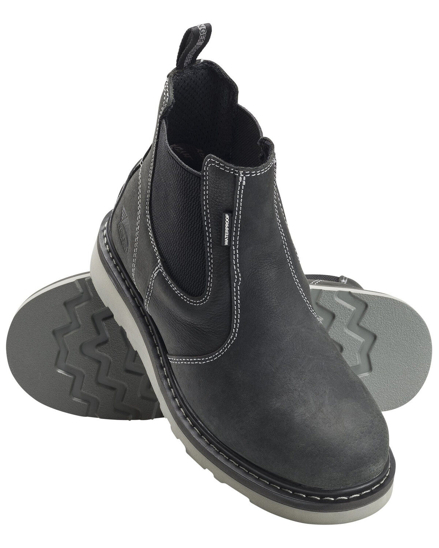 Waterproof Wedge Work Boots - Soft Toe