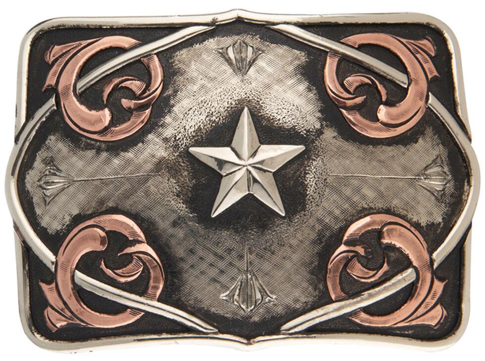 AndWest Men's Coyote Vintage Star Belt Buckle, Multi, hi-res