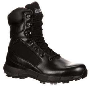 Rocky Broadhead Waterproof Side-Zip Duty Boots - Round Toe, Black, hi-res