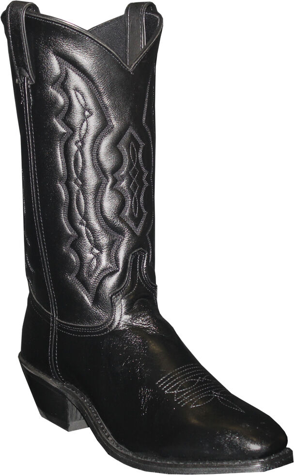 Abilene Men's Black Dress Cowboy Boots - Square Toe , Black, hi-res