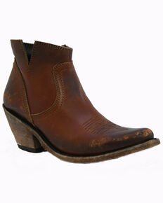 Liberty Black Women's Delano Cotto Western Booties - Pointed Toe, Cognac, hi-res