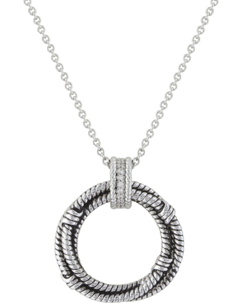 Montana Silversmiths Roped in Brilliance Necklace, Silver, hi-res
