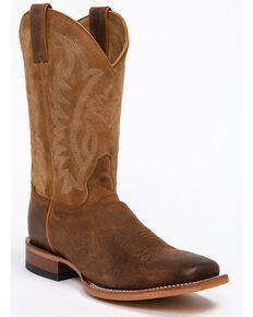 Cody James Men's CJ Brown Western Boots - Wide Square Toe, Brown, hi-res