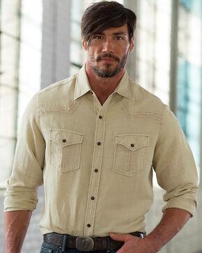 Ryan Michael Men's Split Rail Silk Shirt, Grey, hi-res