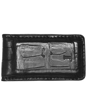 Lucchese Men's Black Crocodile Magnetic Money Clip , Black, hi-res