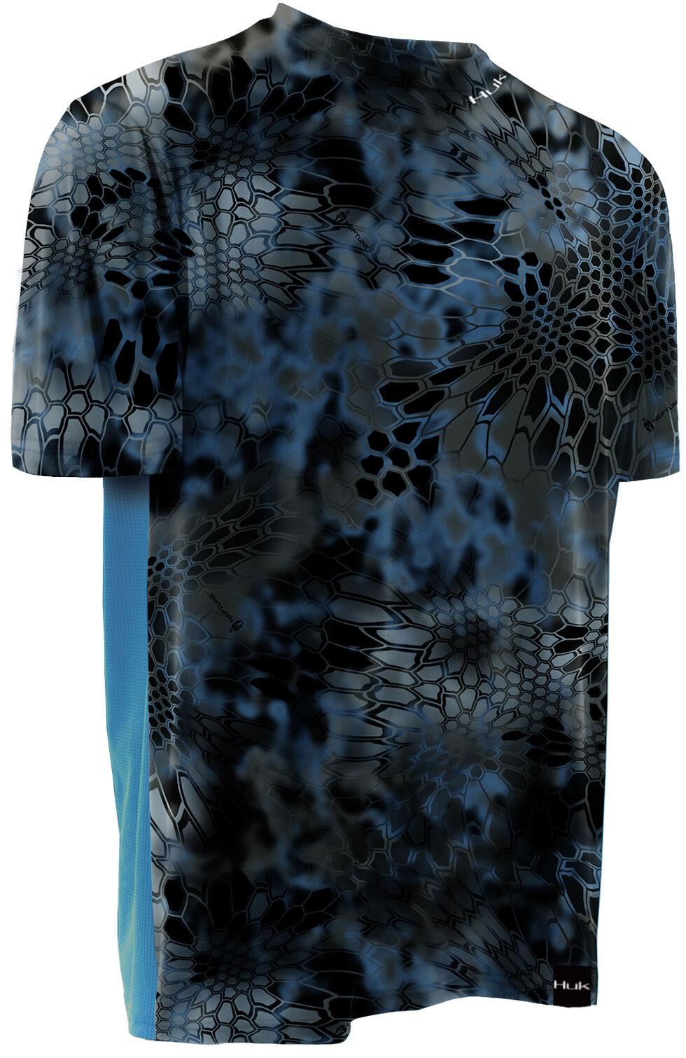 Huk Men's Kryptek LoPro ICON Short Sleeve Top , Charcoal Grey, hi-res