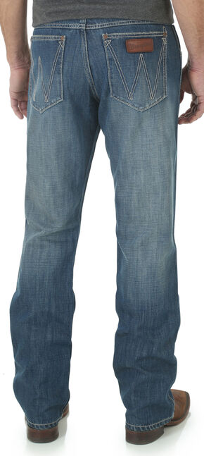 Wrangler Retro Men's Glendale Limited Edition Bootcut Jeans, Med Blue, hi-res