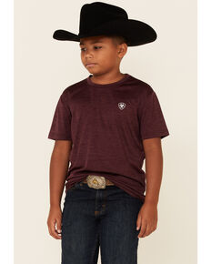 Ariat Boys' Malbec Charger Eagle Graphic Short Sleeve T-Shirt , Brown, hi-res
