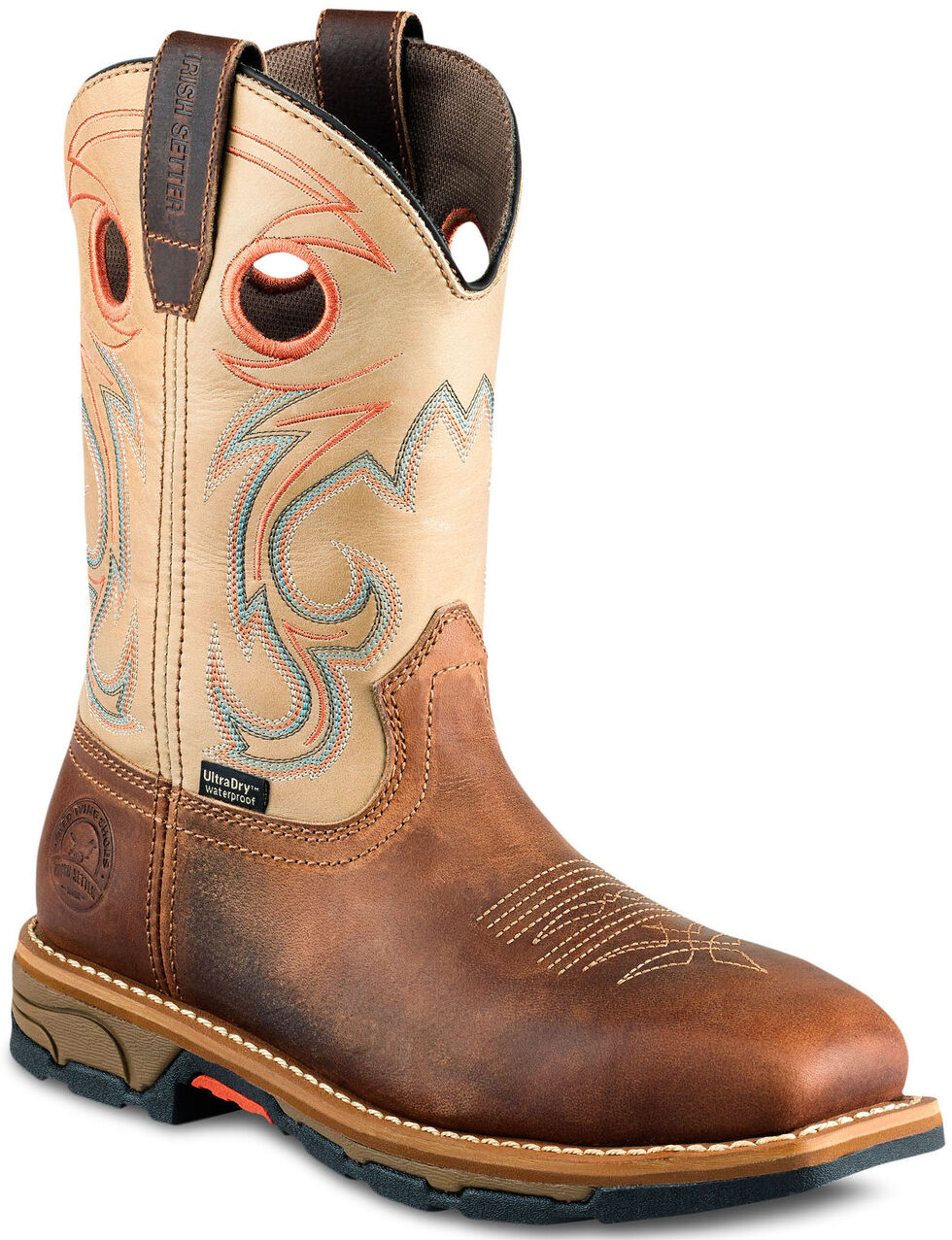 Irish Setter by Red Wing Shoes Women's Tan Marshall Waterproof Work Boots - Steel Toe, Brown, hi-res