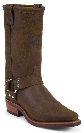 Chippewa Harness Motorcycle Boots - Snip Toe, Brown, hi-res