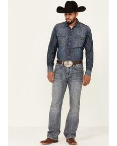 Rock & Roll Denim Men's Vintage Double Barrel Relaxed Bootcut Jeans, Blue, hi-res